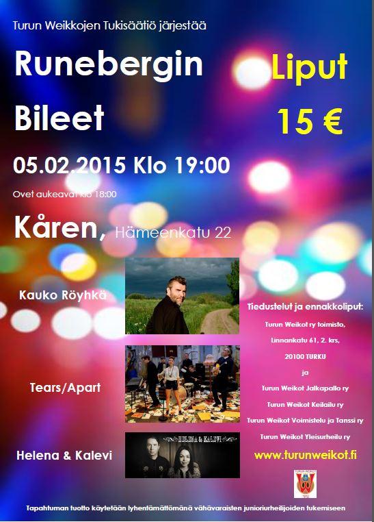 Ruenbergin Bileet 05.02.2015 mainos